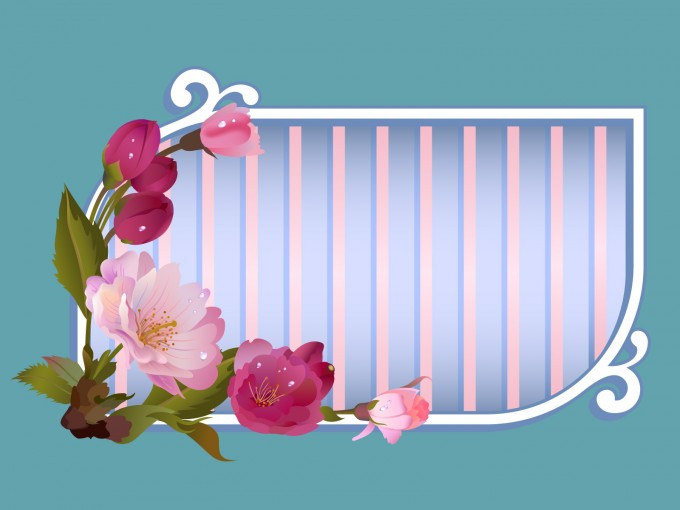 Flowers Window Title Frame PPT Backgrounds