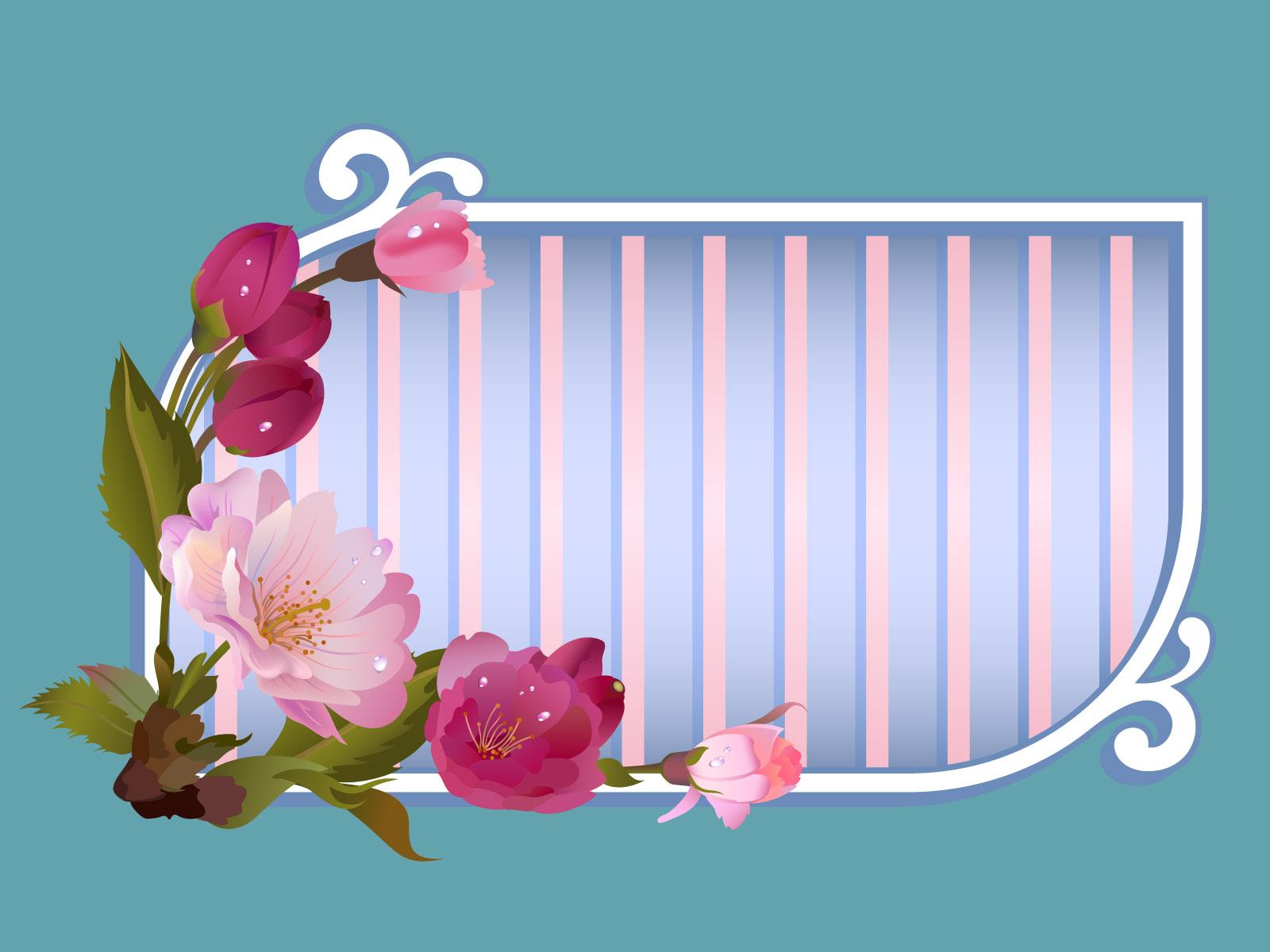 flowers window title frame backgrounds border amp frames