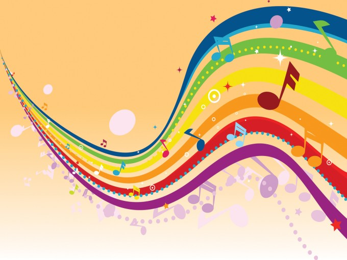 Frolic Music Enjoy PPT Backgrounds