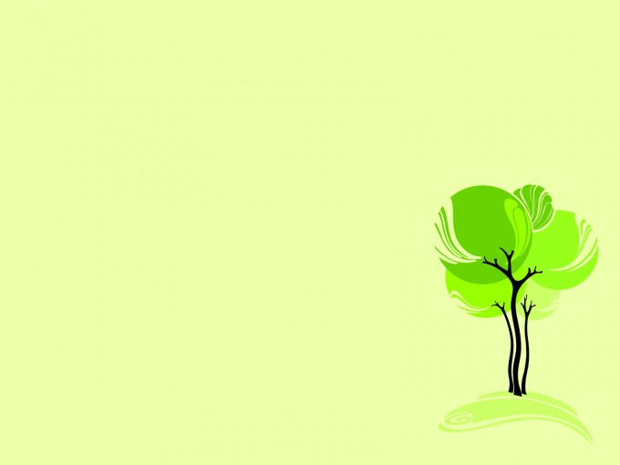 Green Design Tree PPT Backgrounds
