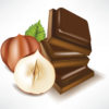 Hazelnut and chocolate foods backgrounds