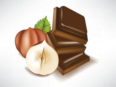 Hazelnut and chocolate foods