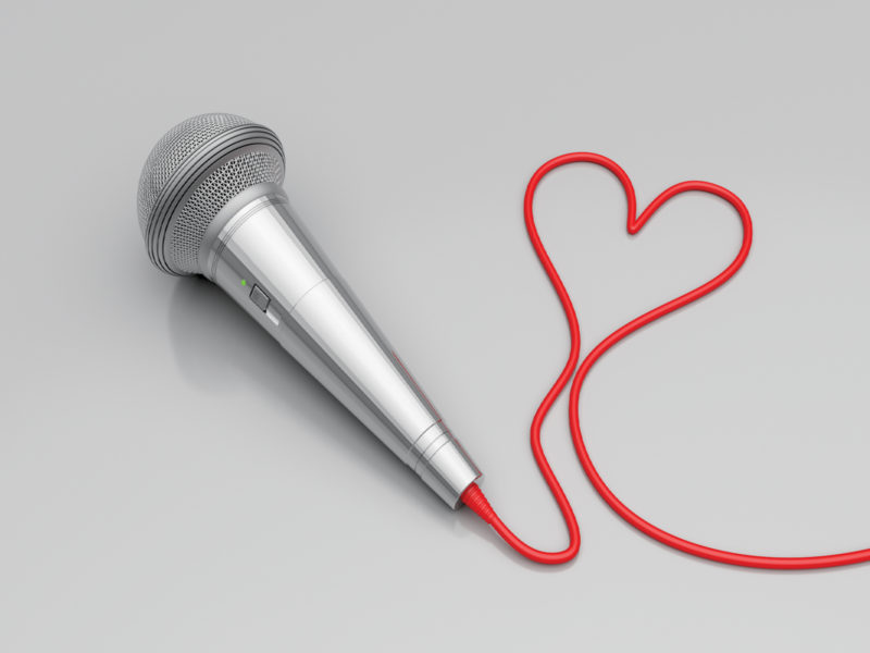 Love Music Microphones Background