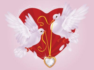 Love birds design powerpoint templates