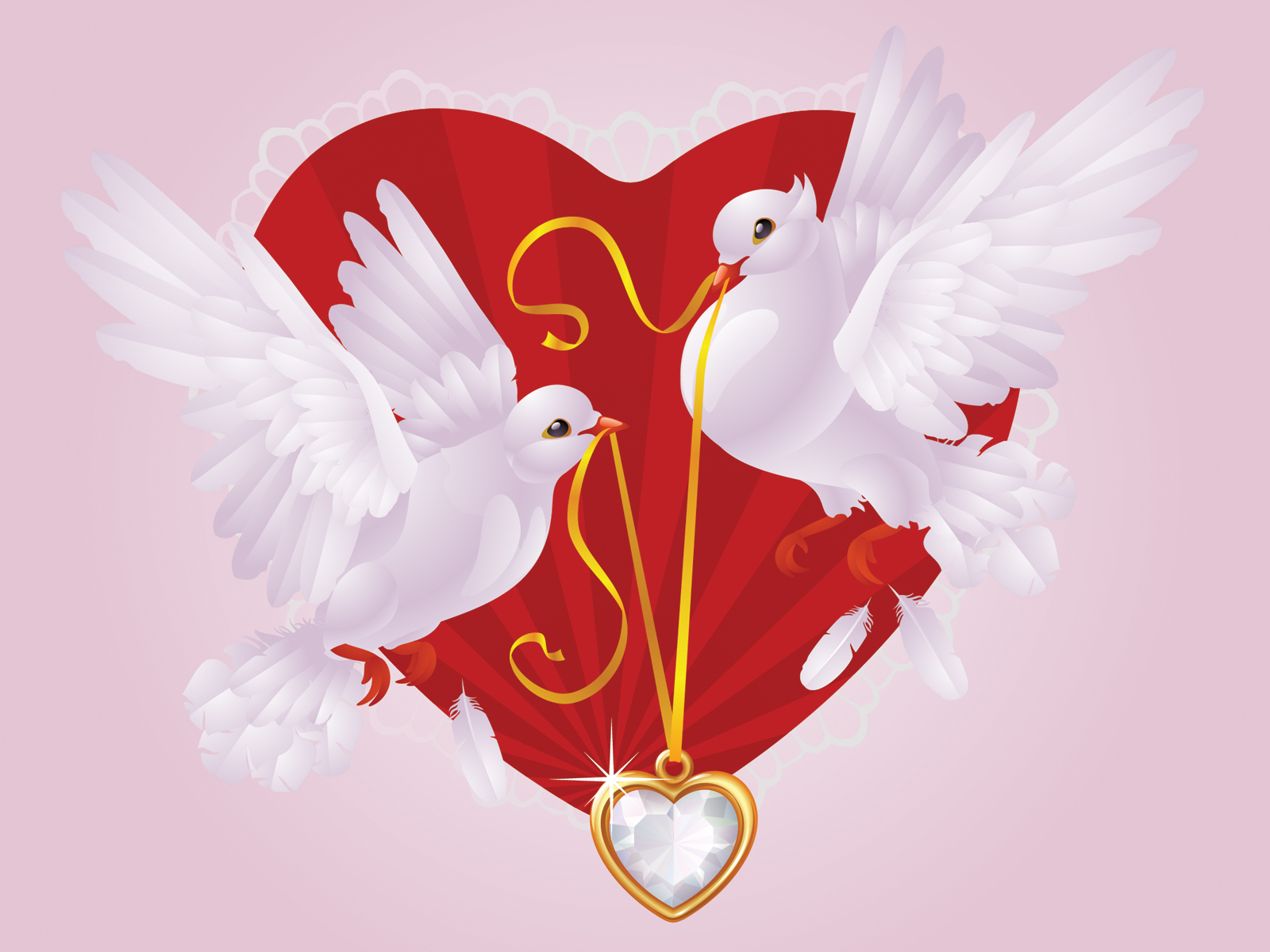 2303 Love Birds Design Backgrounds