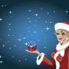 Noel Girl Holiday Backgrounds