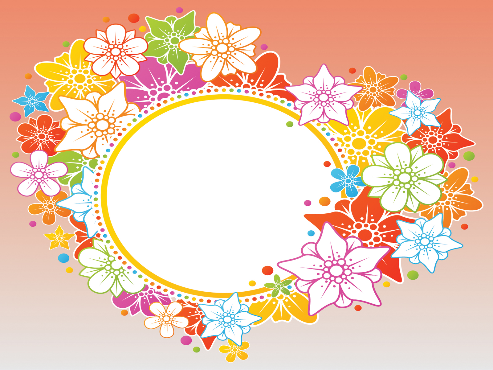 Orange Flowers Presentation Backgrounds
