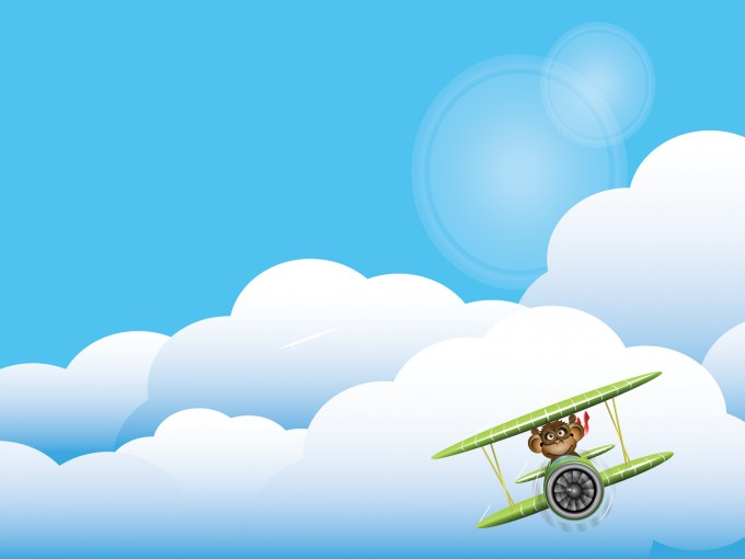 Planet Monkey Transportation PPT Backgrounds