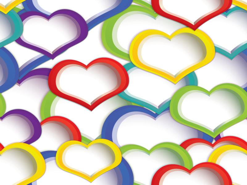 Rainbow Heart Presentation Design