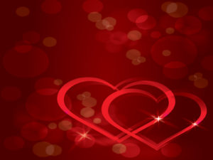 Red Color Real Love PPT Backgrounds