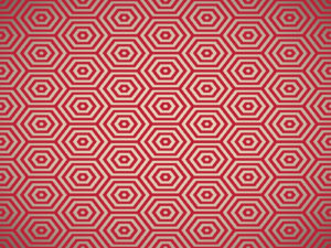 Red pentagon ppt background