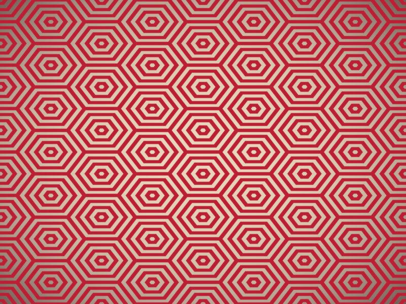 Red pentagon ppt background