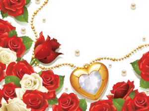 Red Rose and Love PPT Background