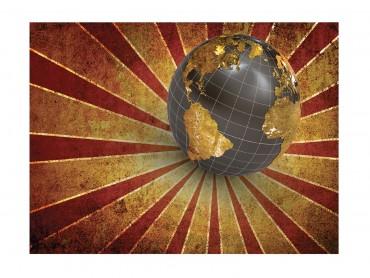 Retro globe celebration