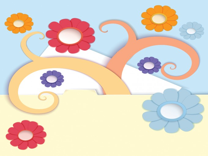 Tree and flowers powerpoint PPT Backgrounds