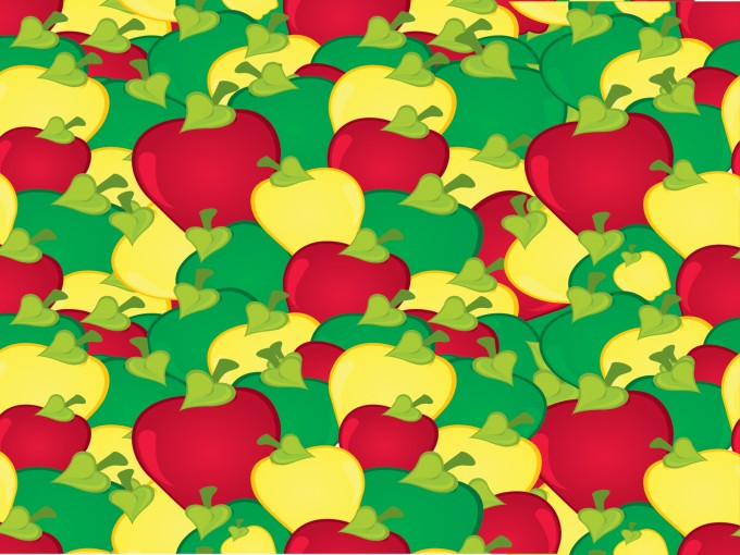 Yellow and Red Apple PPT Backgrounds