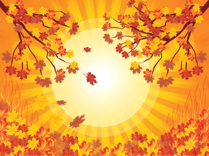 Yellow tree autumn powerpoint template