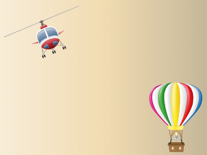 Balloon and Helicopter Aircraft PPT Backgrounds