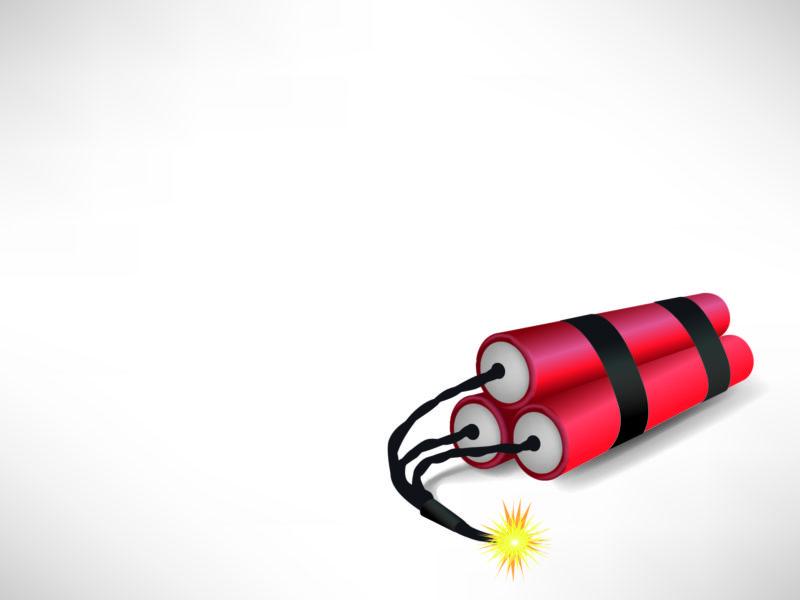 Big Bang Bomb PPT Backgrounds