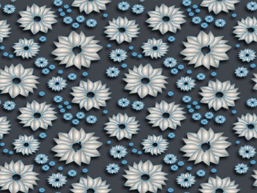 Powerpoint Blue Spring Patterns