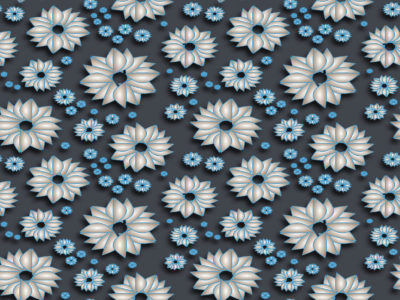 Powerpoint Blue Spring Patterns Backgrounds