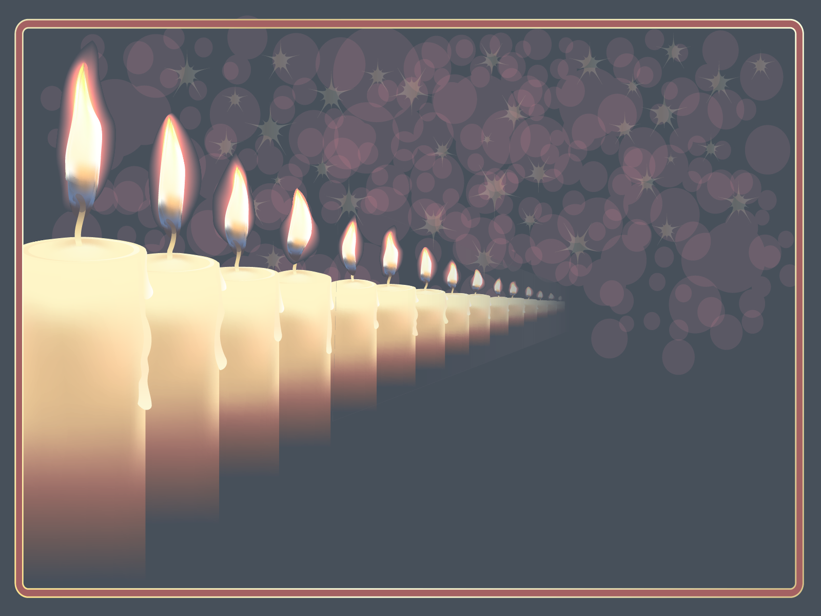 Candles ar in Que PPT Backgrounds