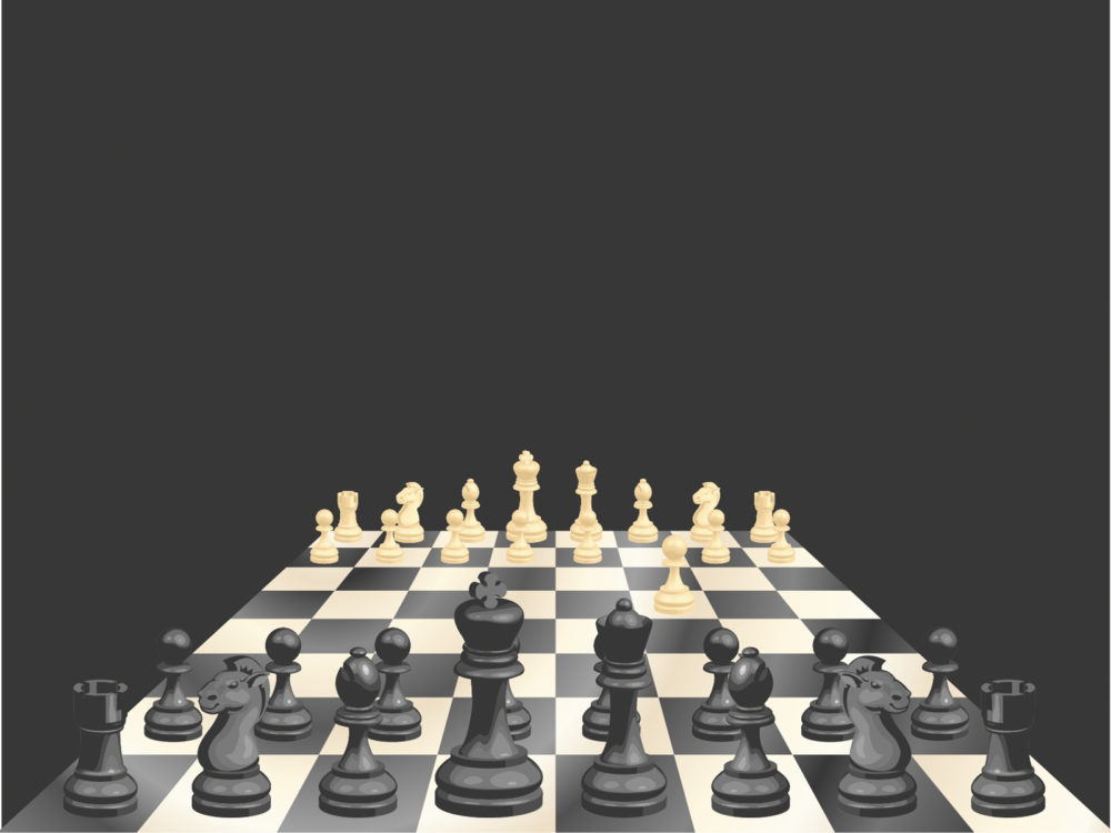 chess-board and chessman game ppt backgrounds - 3d, black, games, Modern powerpoint