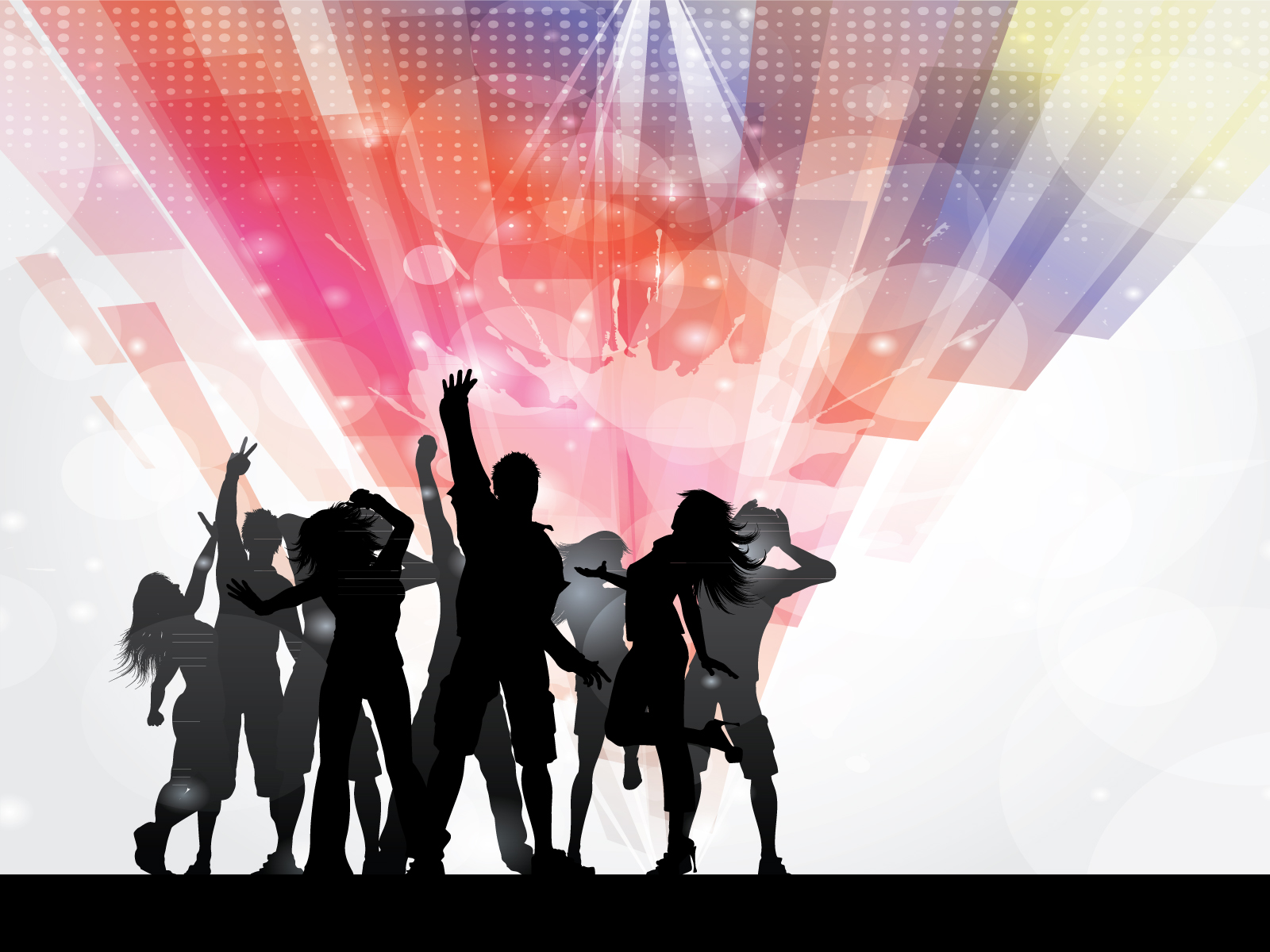 Disco Party People Ppt Backgrounds Design Holiday