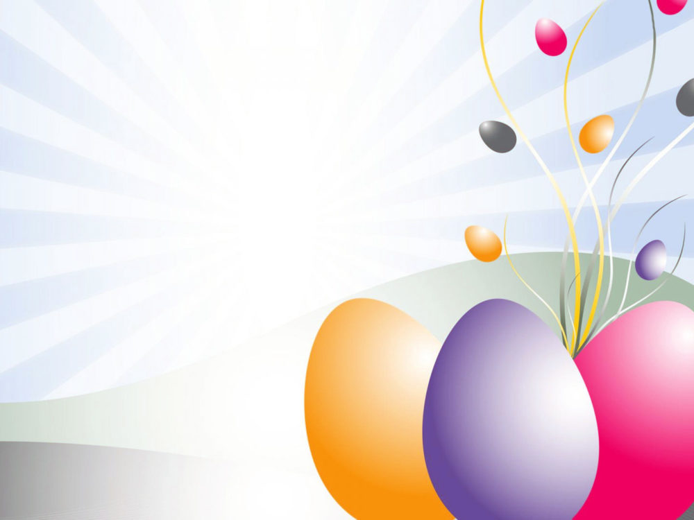 Ppt Easter Eggs Clipart Backgrounds 3d Design Templates