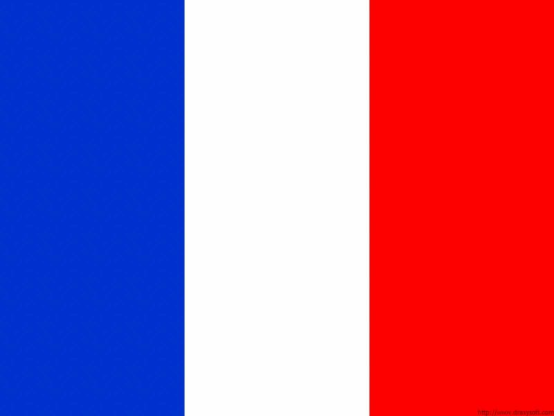 France Flag powerpoint Background