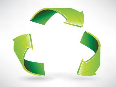 Green Chart Arrow Powerpoint Template