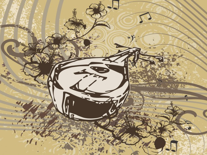 Mandolin musical PPT Backgrounds