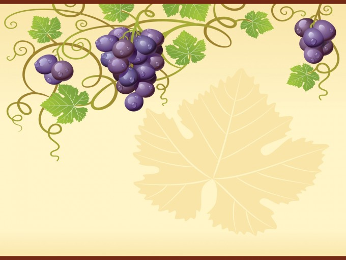 Nature Grape Vine for Foods Powerpoint PPT Backgrounds