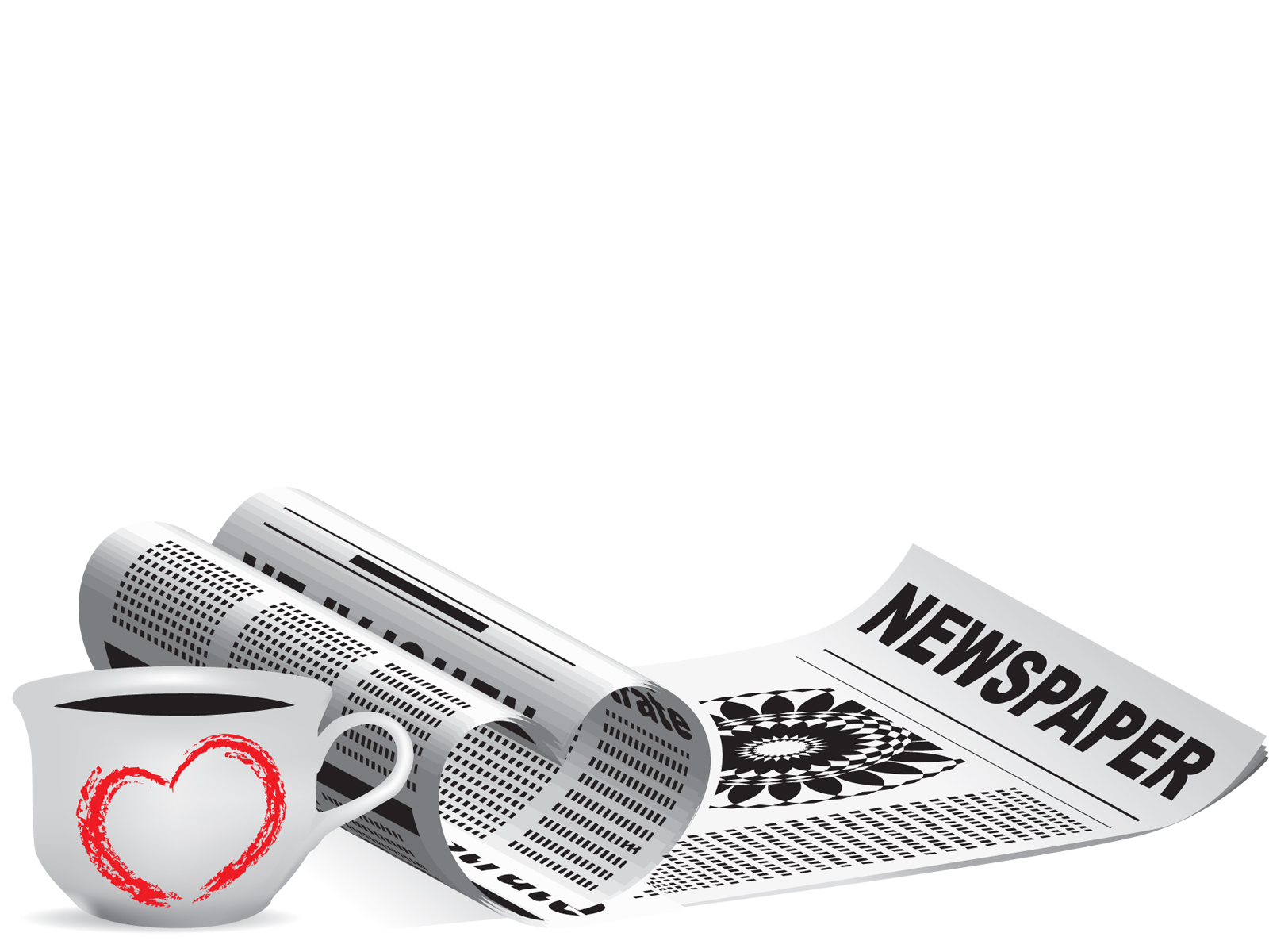 newspaper with coffee backgrounds design educational