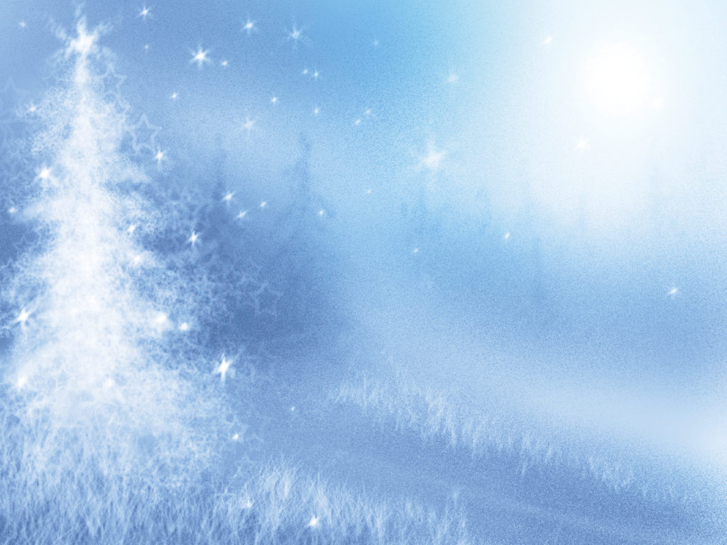 pine winter with tree ppt backgrounds - christmas, holiday, Modern powerpoint