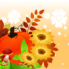 Pumpkins with Flowers PPT Backgrounds