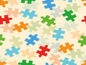 Rainbow Sweet Puzzle PPT Backgrounds