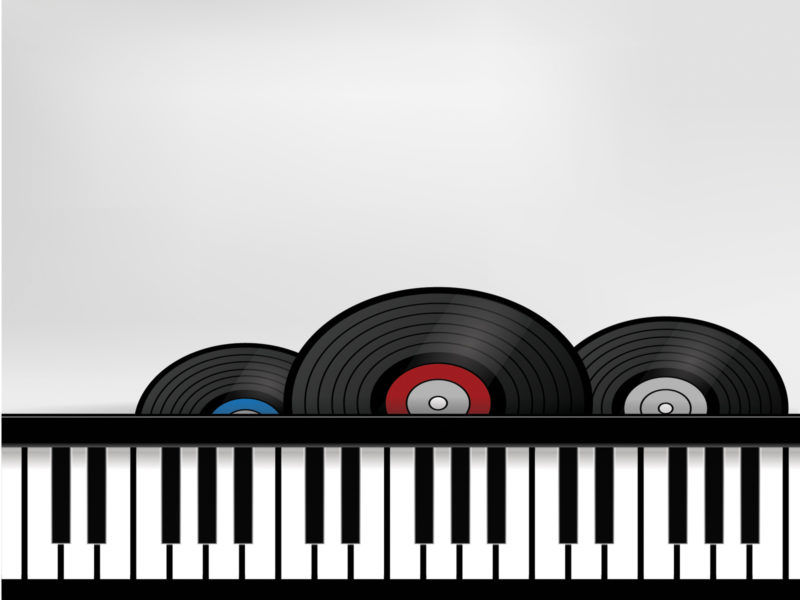 Record and Organ PPT Slide Backgrounds