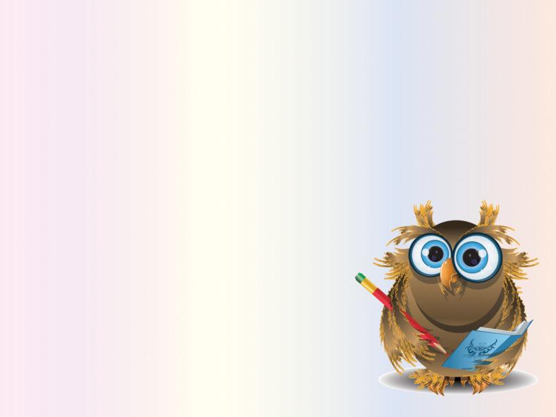 Sweet Owl Teacher Powerpoint Backgrounds