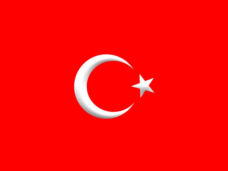 Turkey Flag powerpoint Backgrounds