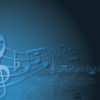 Blue and white music ppt backgrounds