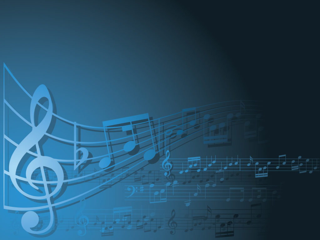 blue and white music ppt backgrounds music templates
