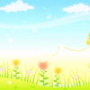 butterfly in the meadow powerpoint backgrounds