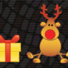 merry christmas deer and gift backgrounds