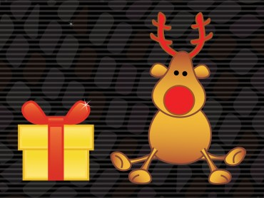 Merry Christmas Deer and Gift