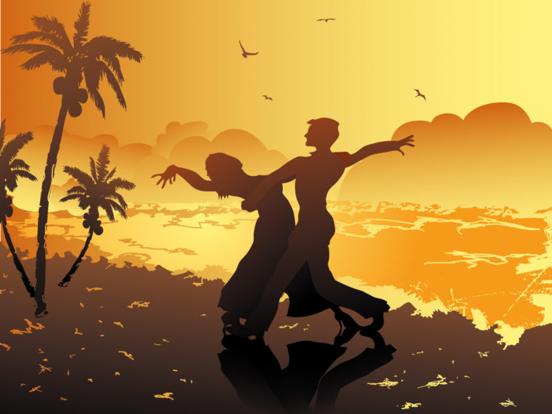 Beach Dance Powerpoint Backgrounds for Templates