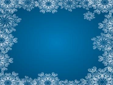 Blue Snowflake Frames