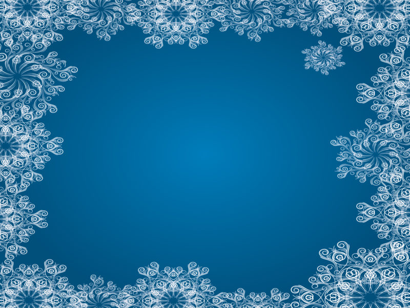 Blue Snowflake Frames Backgrounds