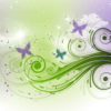 Butterfly and Stars PPT Backgrounds