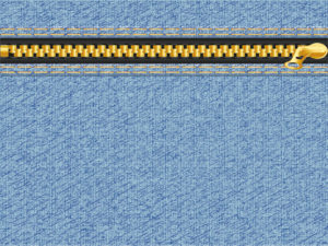 Denim Zipper Design PPT Background